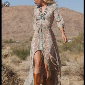 WTB spell & the gypsy Boho Blossom gown sage